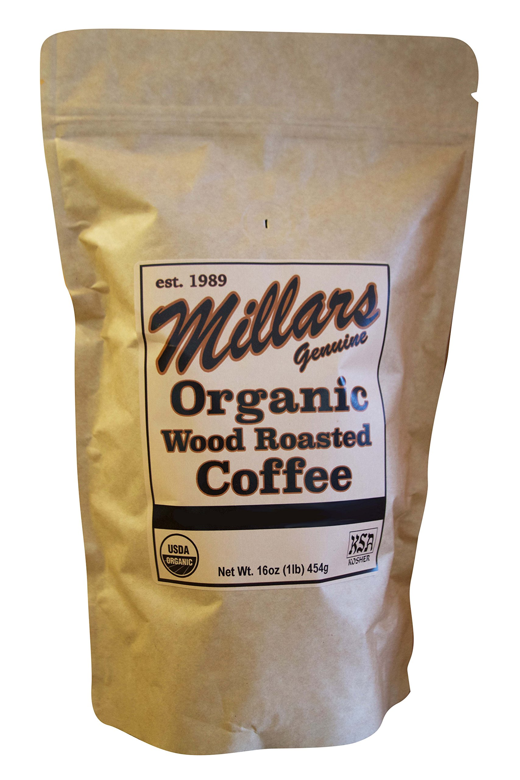Millar's Wood Roasted Organic Espresso & Drip Coffee Sunset Blend Medium 16 ounce Bag by Millar's Wood Roasted Coffee (Image #1)