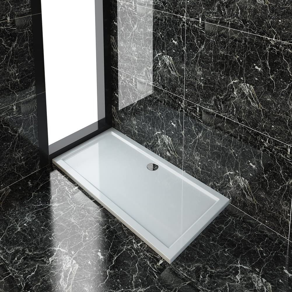 MX Elements Rectangular Shower Tray with Waste 1500mm x 800mm Flat Top