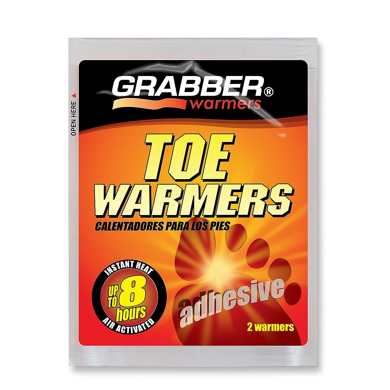 Pack of 2 Grabber Warmers Grabber Big Pack Toe Warmers 8 Pairs Adhesive Toe Warmer Foil Pack