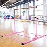 Dai&F Horizontal Gymnastics Bar for Kids,Height Adjustable Junior Training Bar,Kip Bar Ideal for Gymnasts 1-4 Levels, 300 lbs