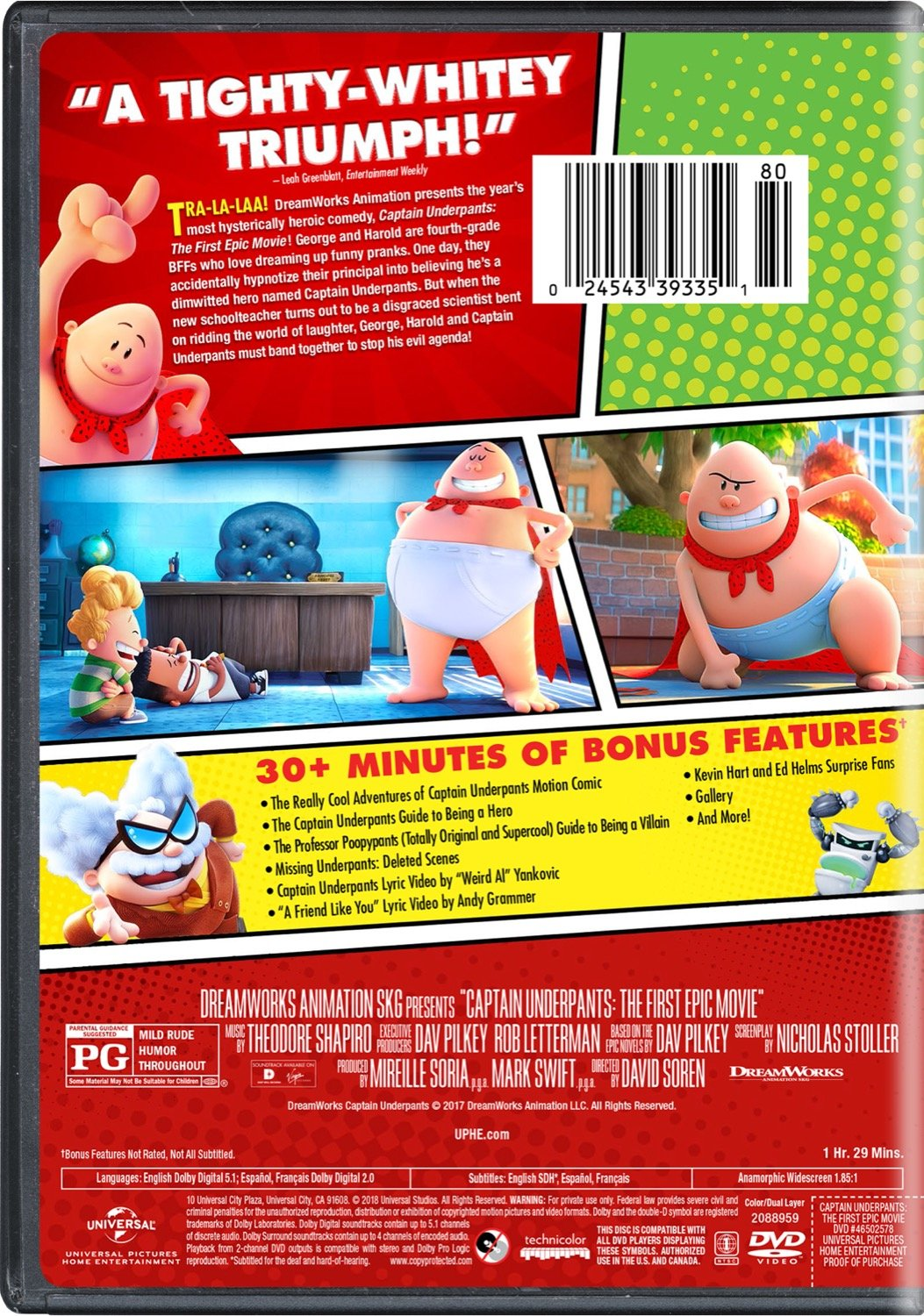 Amazon Com Captain Underpants The First Epic Movie Kevin Hart Ed Helms Nick Kroll Thomas Middleditch Jordan Peele Kristen Schaal David Soren Mireille Soria Mark Swift Nicholas Stoller Movies Tv
