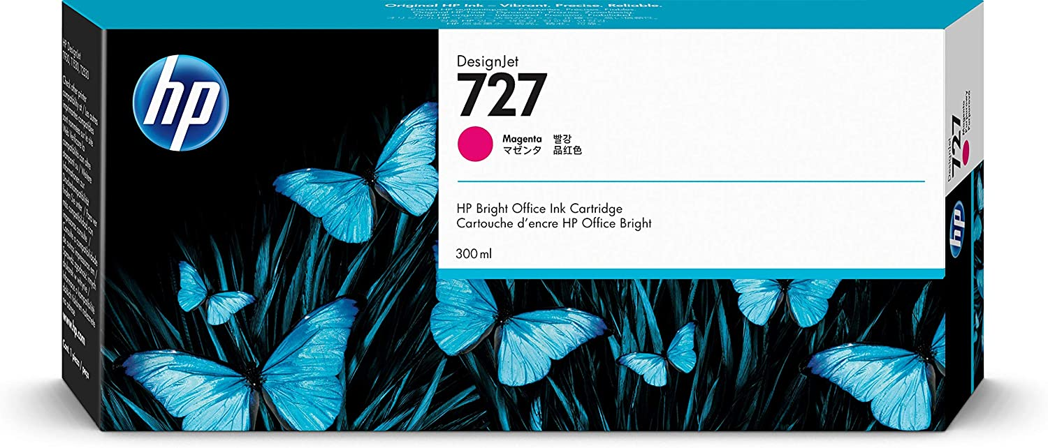 HP 727 (F9J77A) 300-ml Magenta Original Ink Cartridge for DesignJet T920, T2500