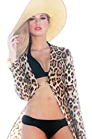 Luxxe® Long Leopard Cover Up/Jacket/Sweep Coat