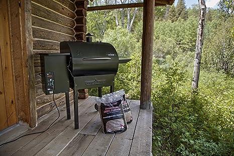 Campamento Chef pg24dlx Deluxe pellet parrilla y barbacoa con Digital Temp sonda inoxidable controles y: Amazon.es: Jardín
