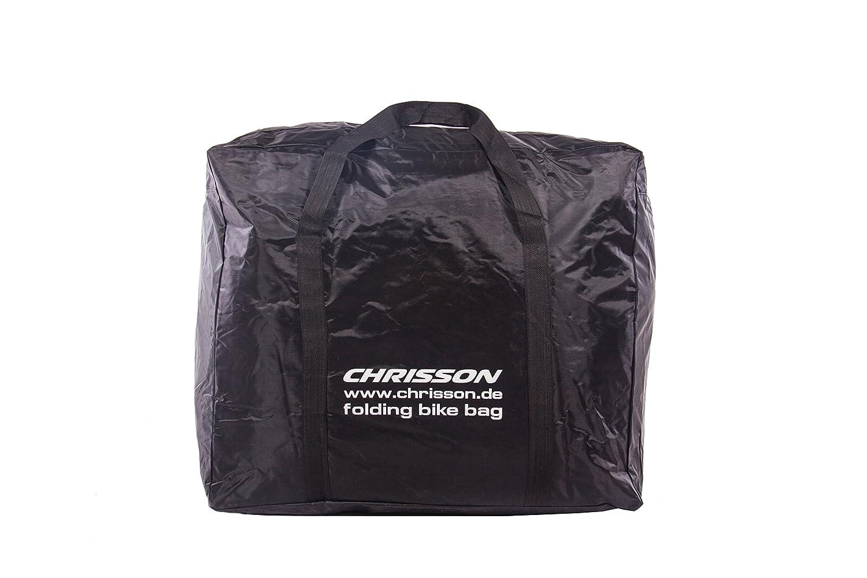 Chrisson - Funda para bicicleta plegable, color negro, para bicicletas plegables de 35 a 50 cm aprox.: Amazon.es: Deportes y aire libre