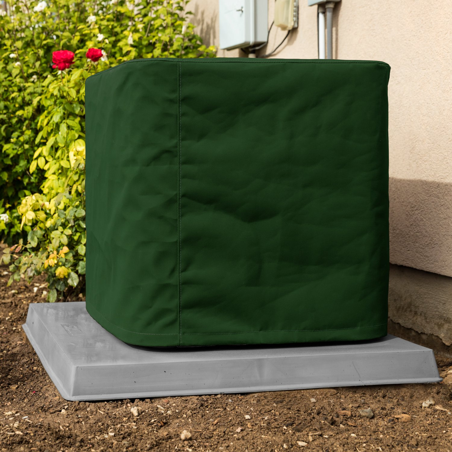 Custom Air Conditioner Cover - Made-to-Order for your exact Make & Model Number - Ultimate Sunbrella Canvas - Forest Green - Made in the USA - 10-year Warranty