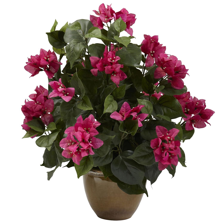 セラミック花瓶と自然に近い6730ブーゲンビリア B00FUNJPQW