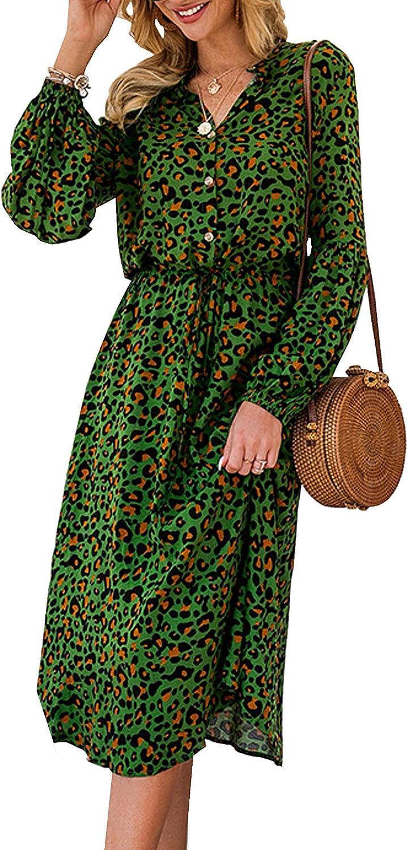 Midi long-sleeved dress