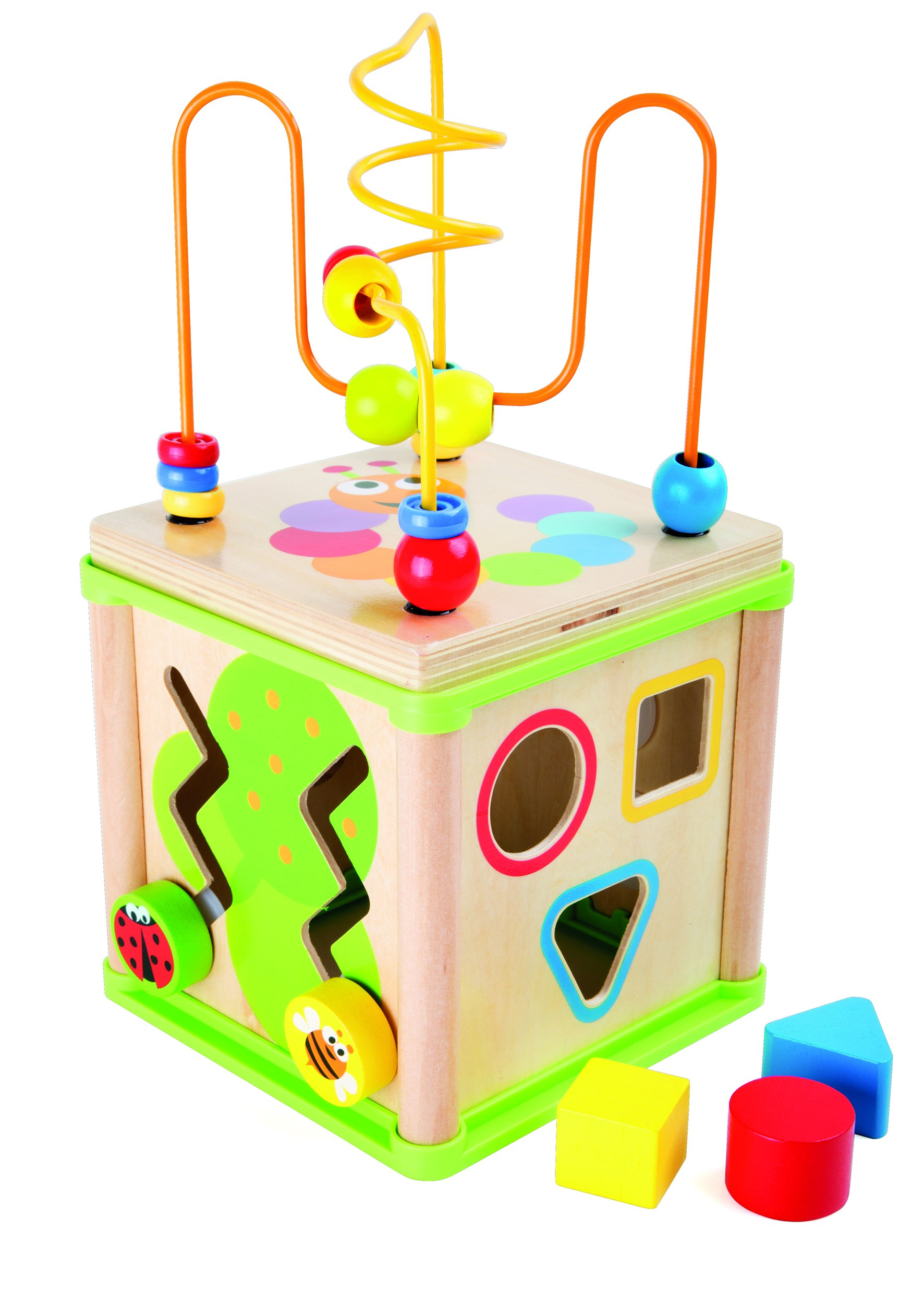 Legler Wooden Insect Motor Skills Training Activity Cube Premium Toy Designed for Kids, Ages 12 Months & Up. A Small Foot Design
