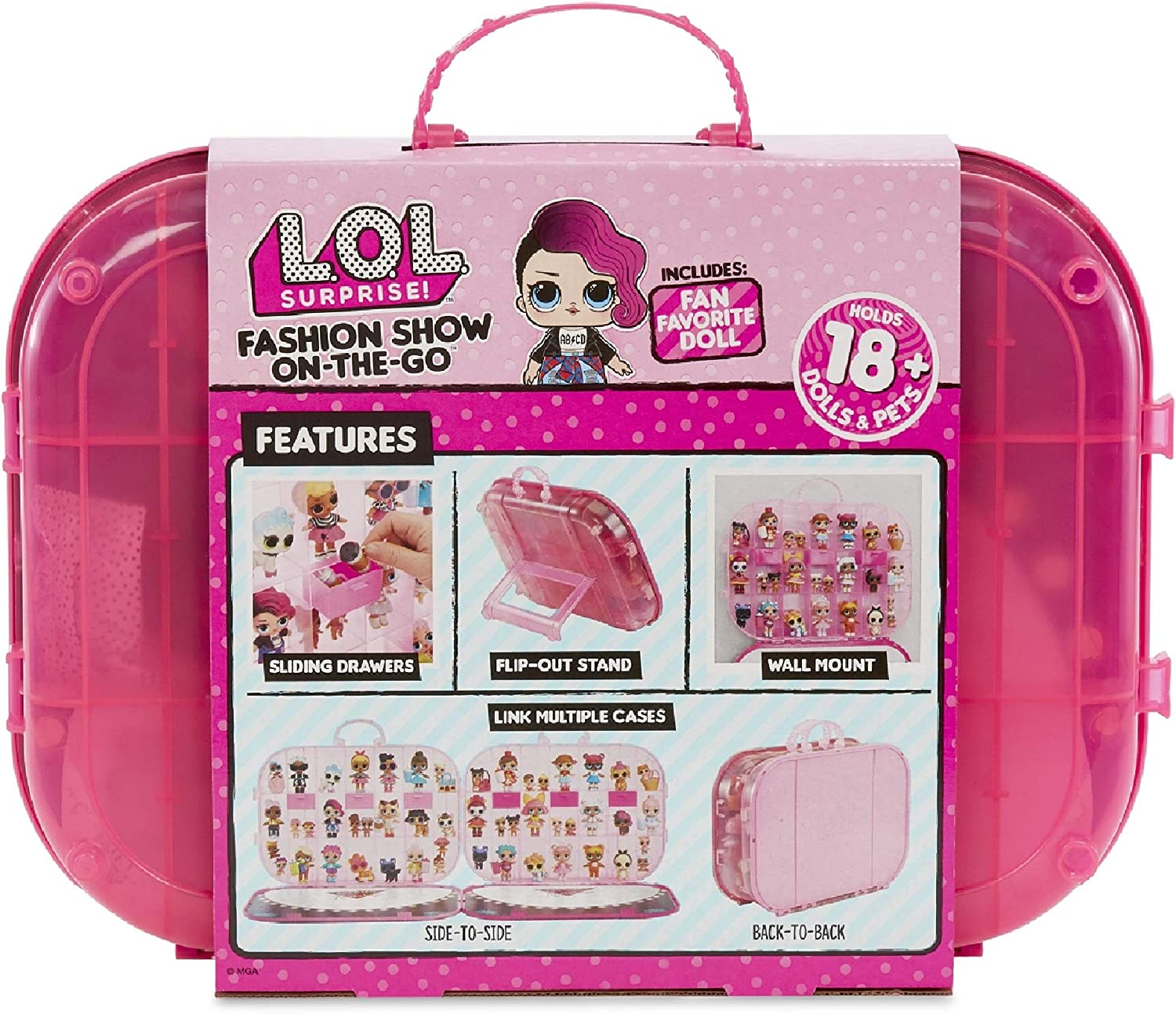 LOL Surprise! Fashion Show On The Go Hot Pink Storage & Playset, Multicolore, 562689