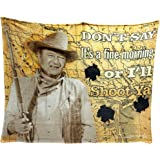 John Wayne I'll Shoot You 50x60 Throw Blanket