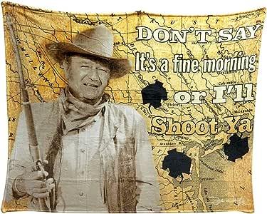 John Wayne I'll Shoot You 50x60 Throw Blanket