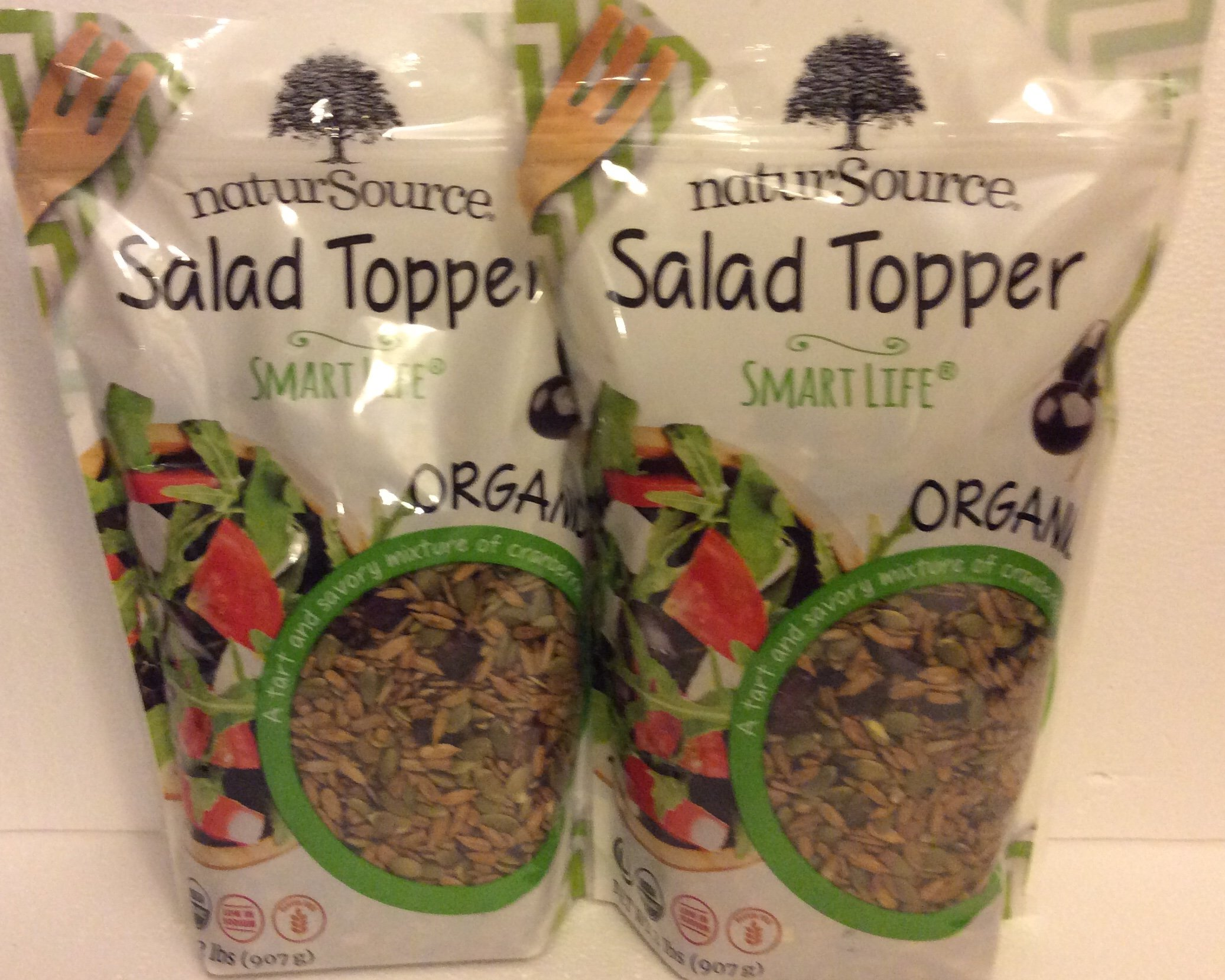 NaturSource (2 PACK) Organic Salad Topper Smart Life 2LBS Each Releasable Bag by NaturSource