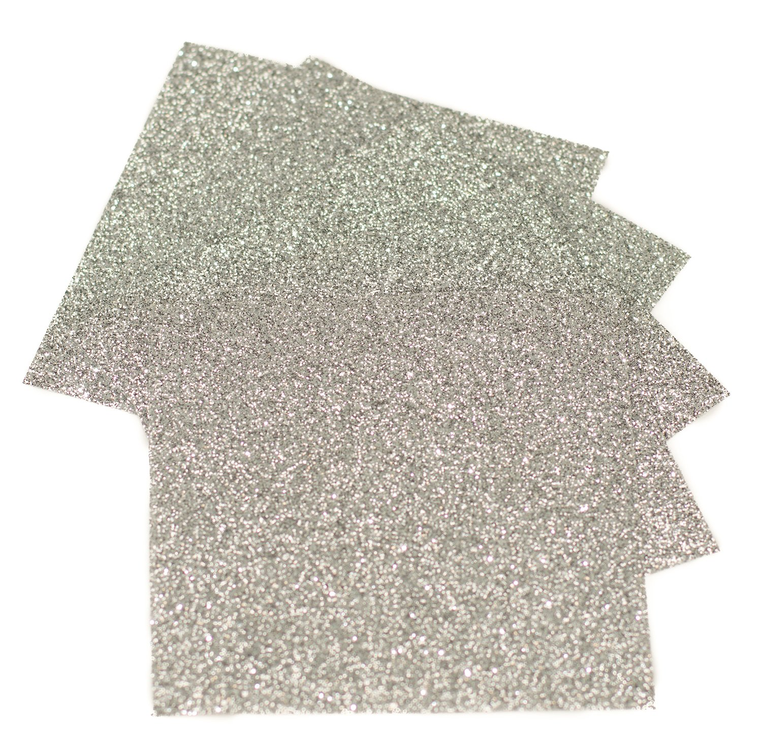 Expressions Vinyl - Silver - 9in. x 12in. 5-pack Siser Glitter Iron-on Heat Transfer Vinyl Sheets by Expressions Vinyl