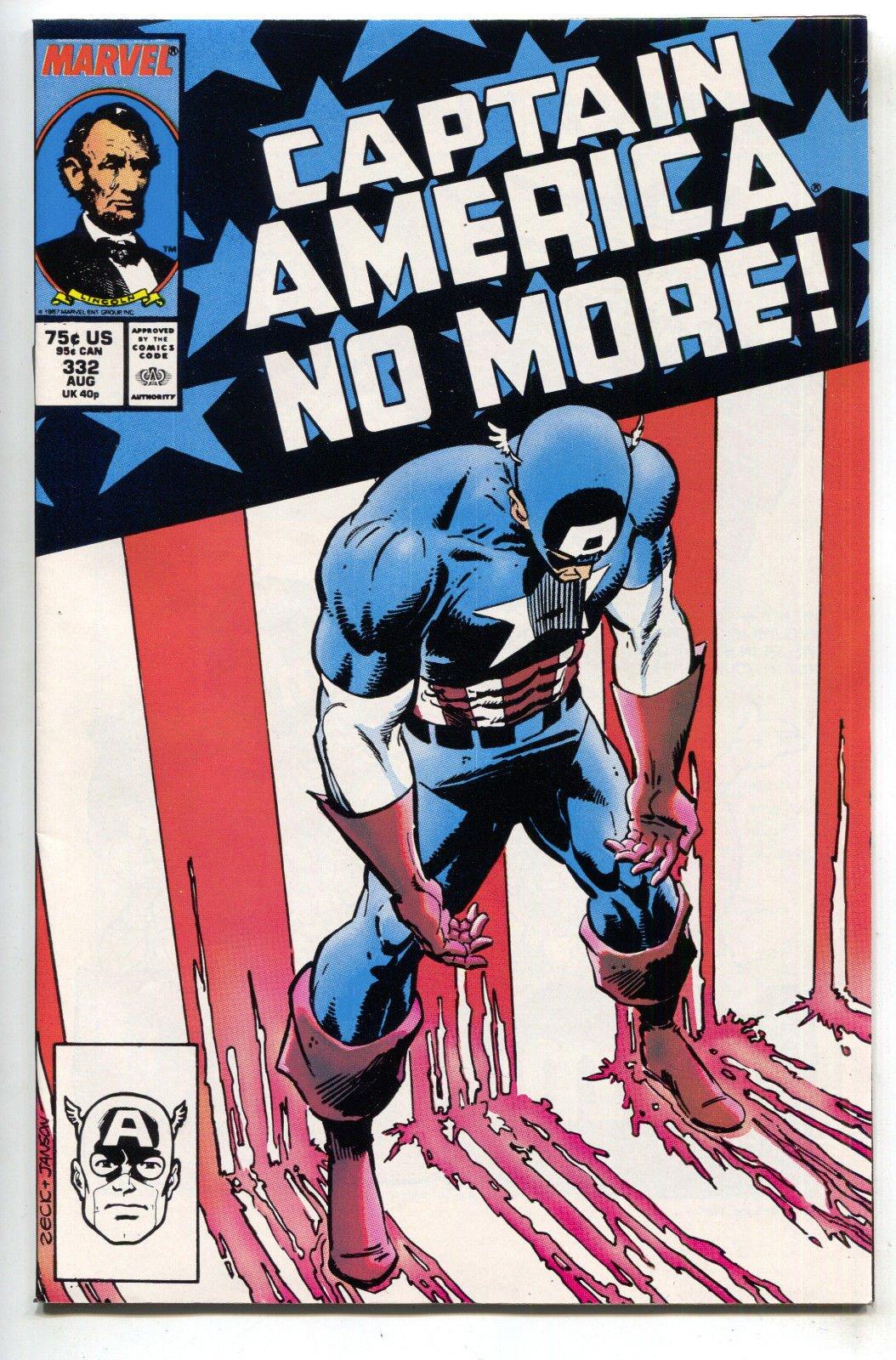 Captain America 332 Captain America No More Mark Gruenwald Tom Morgan Books