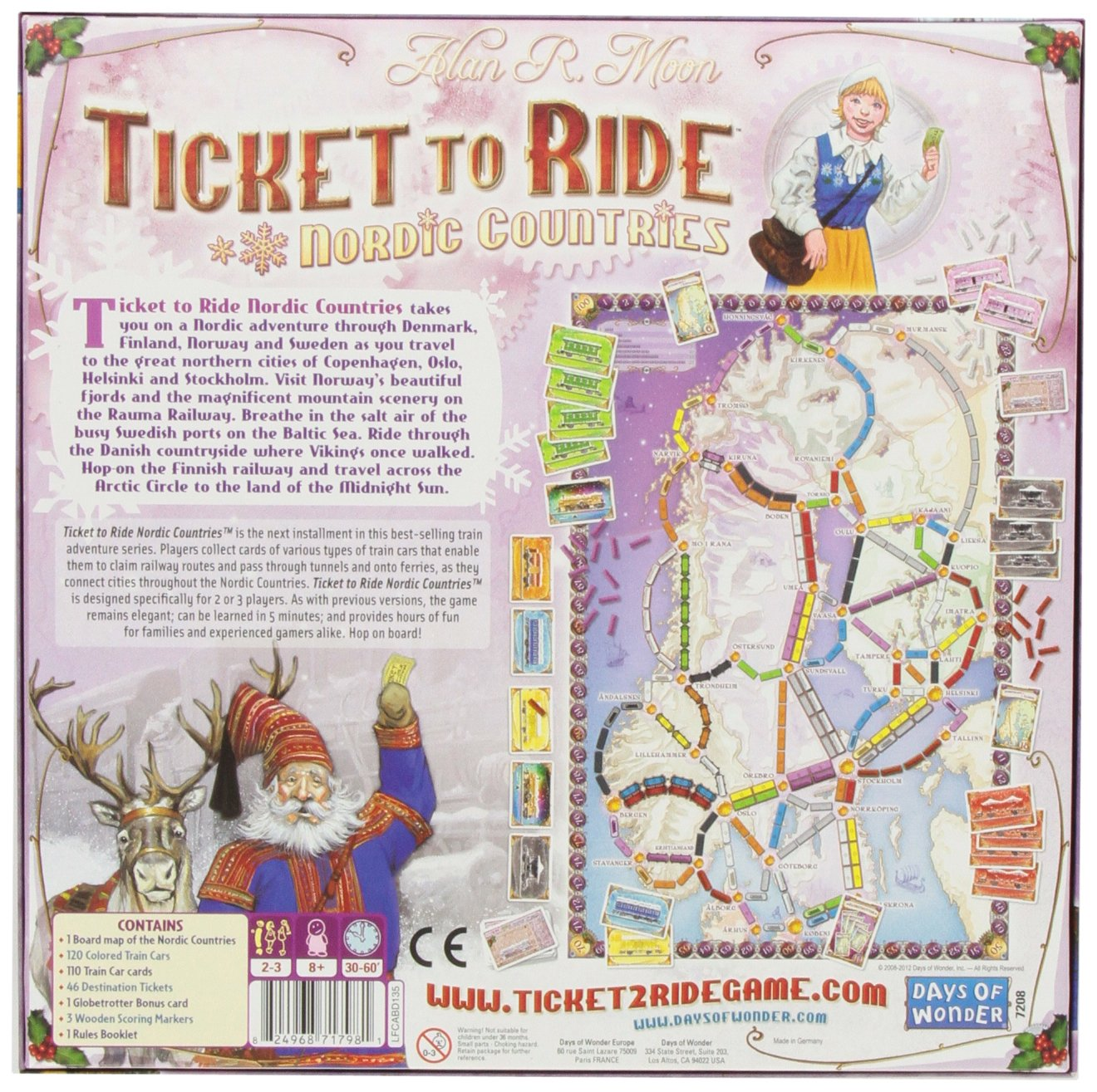 Amazon Com Ticket To Ride Nordic Countries Toys Games