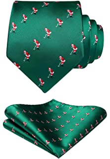 79de063d5c2f Amazon.com: Christmas Ties For Men: Mens Woven Black Lab Dog Necktie ...