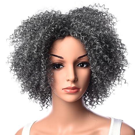 Silike Perruque afro cheveux crépus, frisé