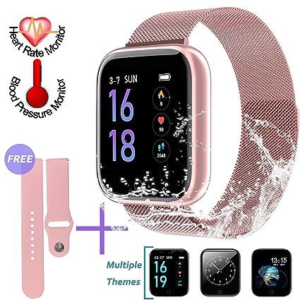 Amazon.com: Reloj inteligente SZHAIYU con monitor de presión ...