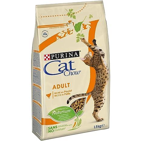 Purina Cat Chow pienso para Gato Adulto Pollo 6 x 1,5 Kg