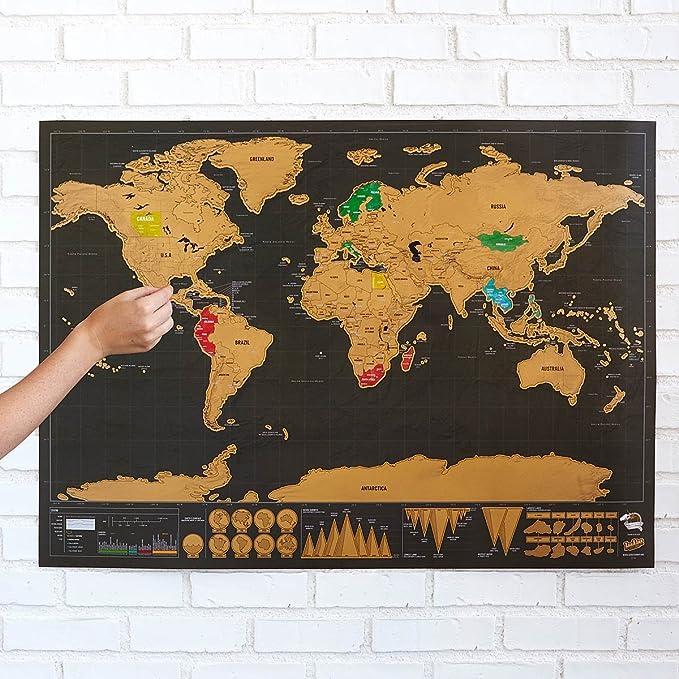 Ducomi® - Mapamundi con rascador para marcar los países visitados ...