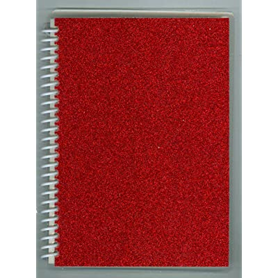"""Sticker Collecting Album 5"""" x 7"""" Red Sparkle Glitter, Re-usable Pages Won't Harm Stickers.: Arts, Crafts & Sewing"""