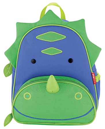 Skip Hop Zoo Toddler Kids Insulated Backpack Dakota Dinosaur Boy 12 Inches Green