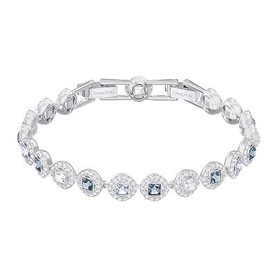 119da332b Swarovski Angelic Square Bracelet, Blue, Rhodium plating: Amazon.co ...