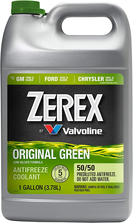 Zerex Original Green 50/50 Prediluted Ready-to-Use Antifreeze/Coolant 1 GA