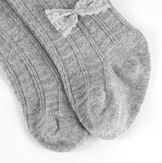 OioTuyi Mallas tejidas para beb/é Leggings de algod/ón sin costuras Paquete de 3 pantimedias para ni/ñas Beb/és reci/én nacidos Ni/ños peque/ños 0-2Y