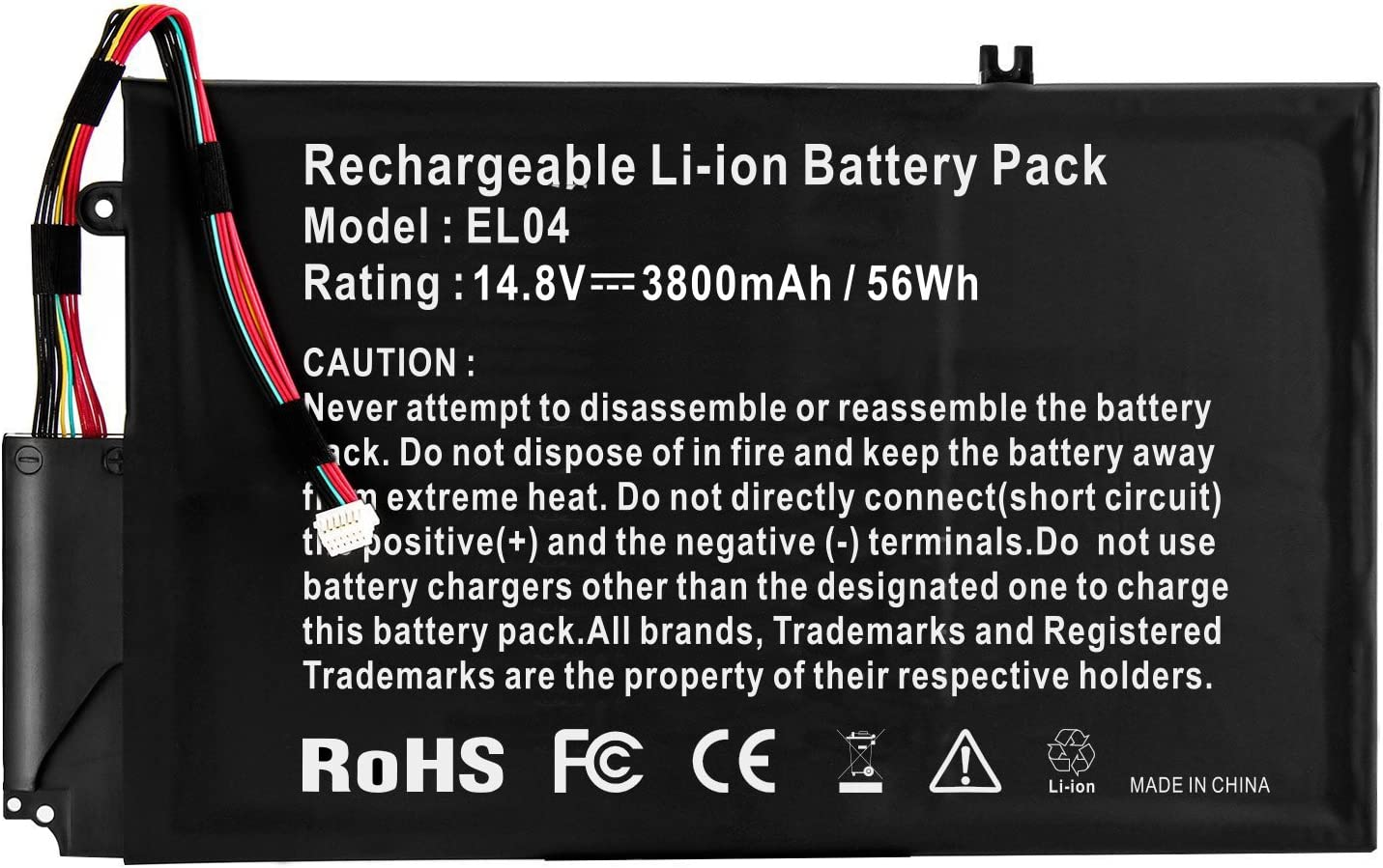 ARyee 3800mAh 14.8V EL04 Battery Laptop Battery Replacement for HP Envy 4-1000 Envy 4-1100 Envy 4-1200 HP 4-1000 4-1100 4-1200 4-1043CL HSTNN-IB3R 681879-1C1 681949-001 HSTNN-UB3R 681879-171 681879-54