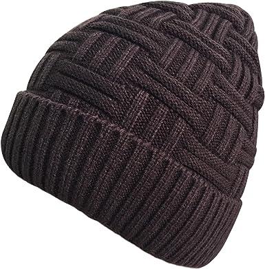 Loritta - Gorro de invierno para hombre o mujer, de lana gruesa y ...