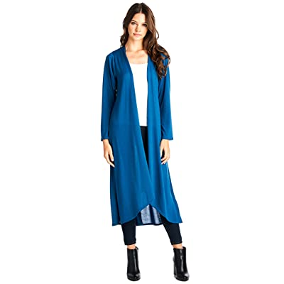 12 Ami Basic Knit Solid Long Sleeve Maxi Cardigan (S-3X) - Made in USA at Amazon Women's Clothing store