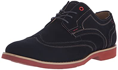 Hush Puppies Men's Fowler EZ Dress Oxford, Navy Suede, ...