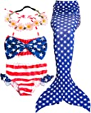 Amazon Price History for:Garlagy 3 Pcs Girls Swimsuit Mermaid Tails for Swimming Princess Bikini Bathing Suit Set Can Add Monofin for 3-12Y