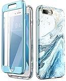 i-Blason Cosmo Glitter iPhone 8 Plus/iPhone 7 Plus 透明保护壳iPhone7/8Plus-CosmoV2-SP-Blue 蓝色