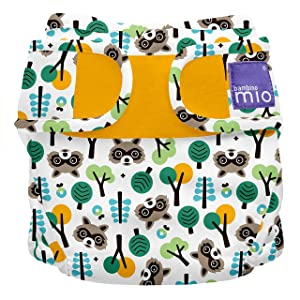 Bambino Mio, miosoft cloth diaper cover, raccoon retreat, size 1 (<21lbs)