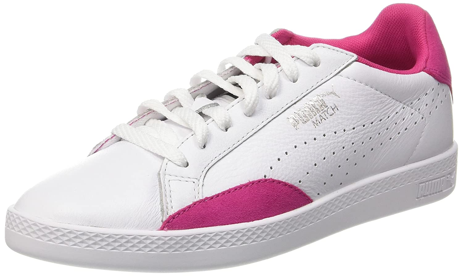 Puma Damen Match Lo Basic Sports Sneakers  38.5 EU|Wei? (Puma White-fuchsia Purple 20)