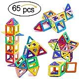 Magnetic Blocks, Ranphykx 65 Piece Magnetic Building Blocks Set Magnetic Tiles Educational Toys for Kids