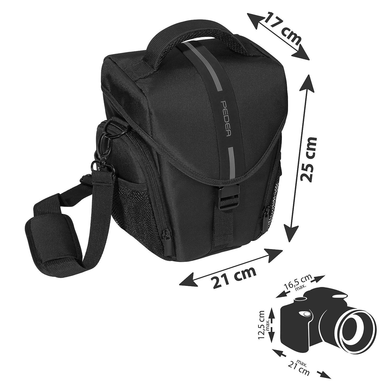 PEDEA GmbH Essex - Bolso para cámara SLR, tamaño L, Color Gris ...