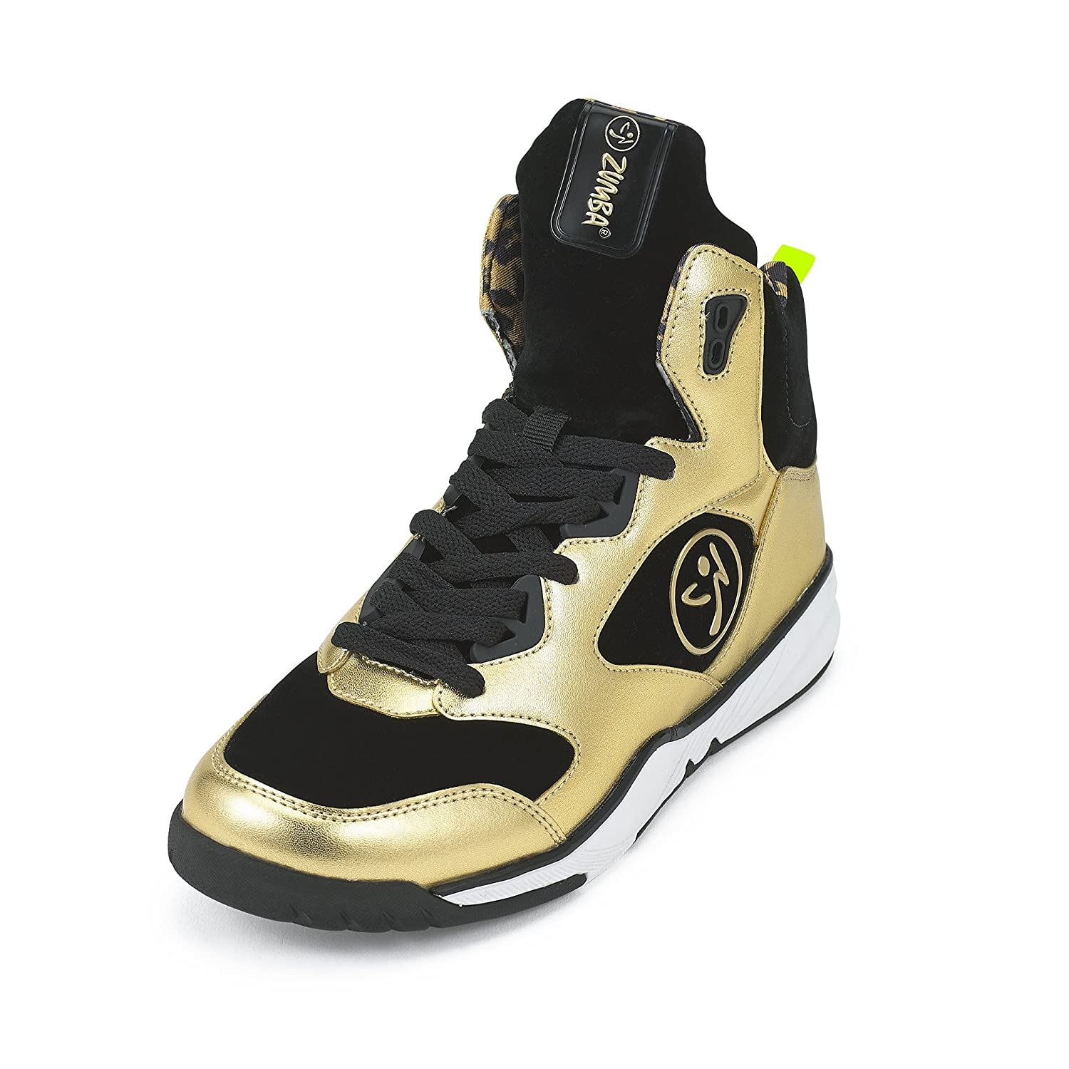 Zumba Women's Energy Boom High Top Dance Workout Sneakers with Enhanced Comfort Support B0744QMW1D 11 B(M) US|Metallic Gold