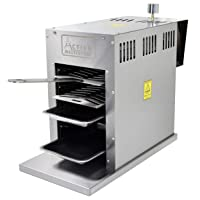 Activa Elektrogrill 800 Grad Edelstahl XXL silber Electro Grill Balkon ✔ eckig ✔ Grillen mit Gas Oberhitze ✔ für den Tisch