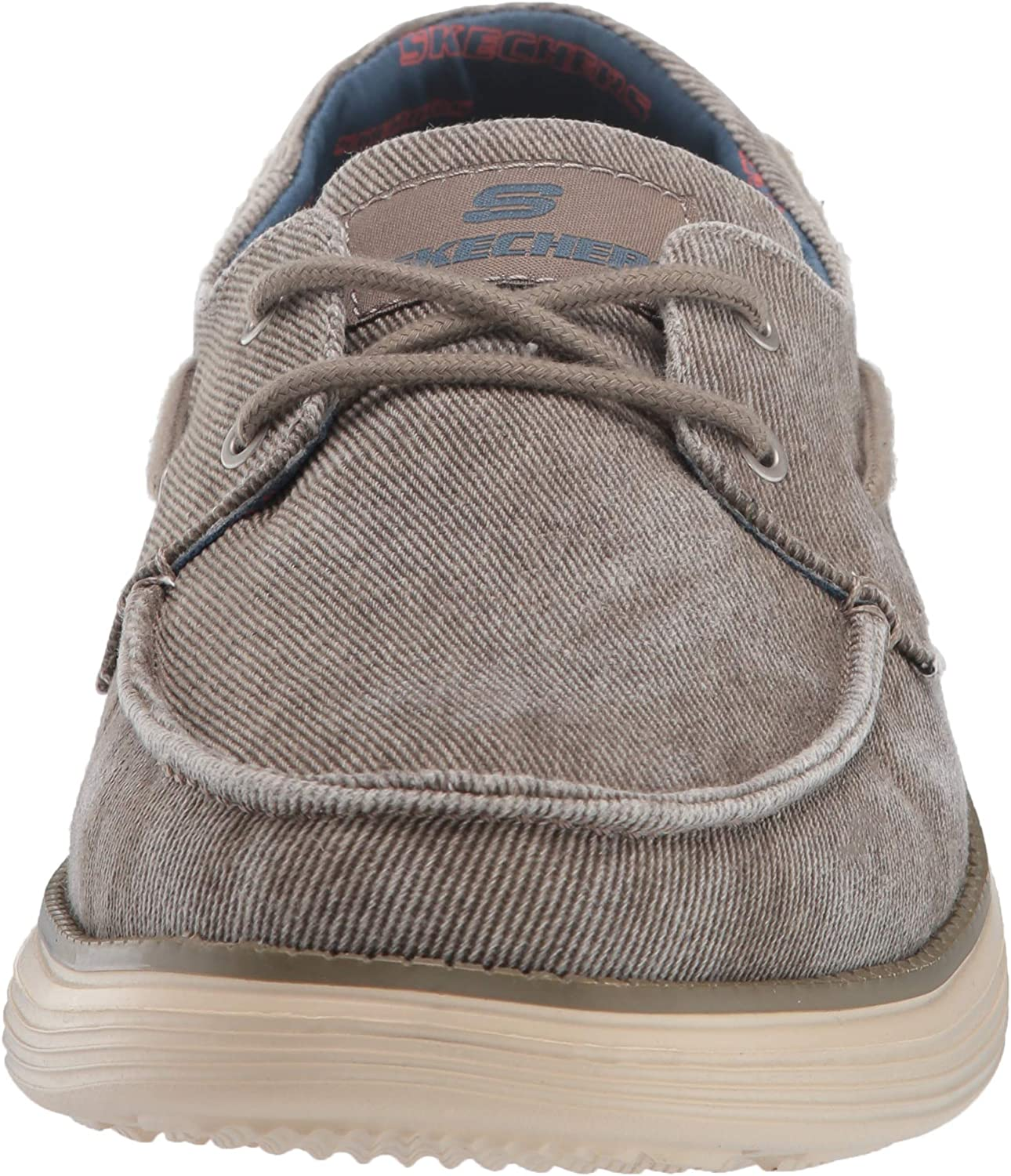 escala Adulto Matar  Skechers Men's Status 2.0-Lorano Moc Toe Canvas Deck Shoe Moccasin, 7/12 UK  | Loafers & Slip-Ons - Amazon.com