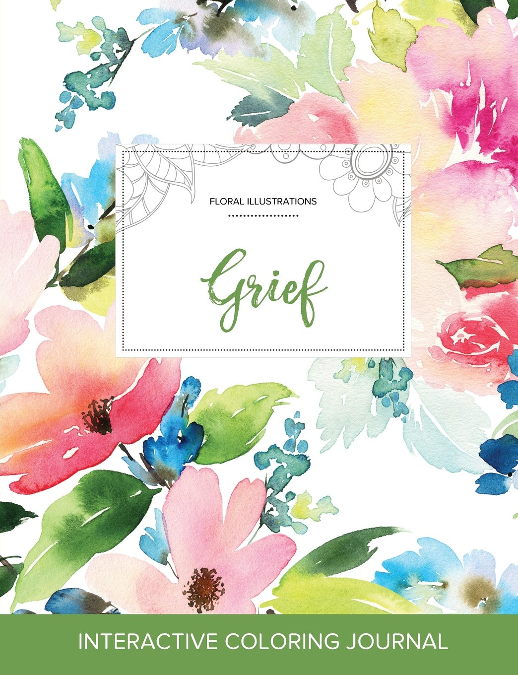 Amazon Adult Coloring Journal Grief Floral Illustrations