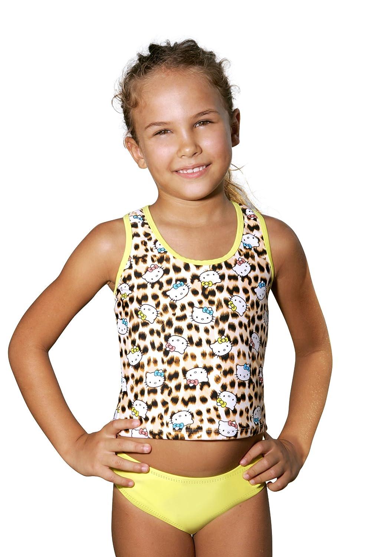 Little Girl Hello Kitty Leopard Racerback Tankini