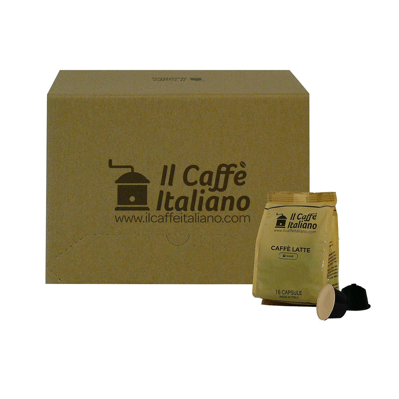 96 cápsulas compatibles con Nescafè Dolce Gusto - Café con leche - Il Caffè Italiano - FRHOME: Amazon.es: Alimentación y bebidas