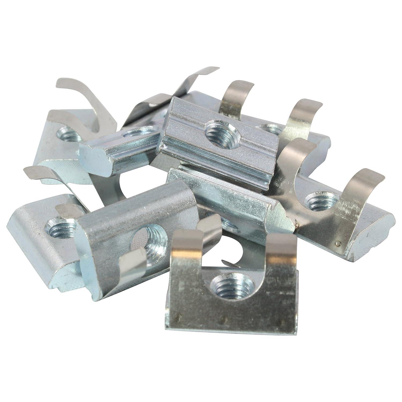 10 x Nut Pierre einschwenkbar É crou 10 –  Type B –  M8 avec chevalet, Ressort Tô le, acier Ressort Tôle Sept GmbH