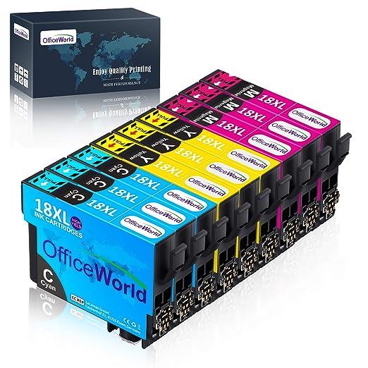OfficeWorld 18XL Alta Capacidad Cartuchos de Tinta Compatible para ...
