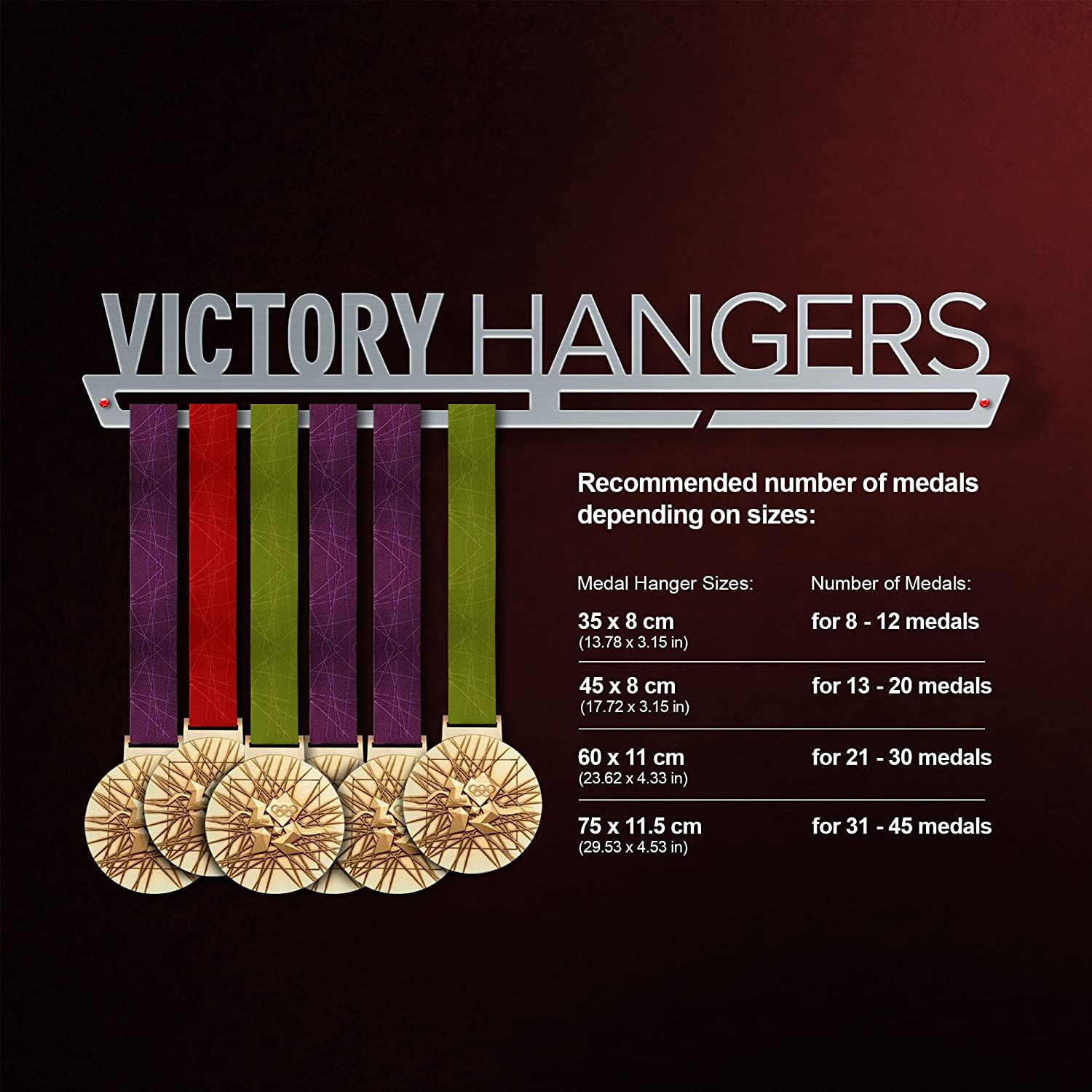 Stainless Steel Medal Display Motivational Medal Hanger by VictoryHangers VICTORY HANGERS Nothing Is Impossible Medal Hanger Display V1 The Best Gift for Champions !