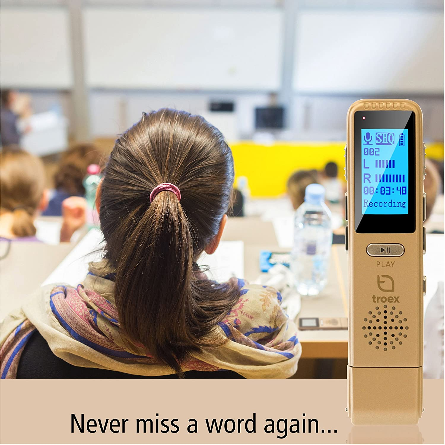 meeting PC or Mac compatible 8GB bird sound for recording lecture HD stereo mini USB audio recorders pen size silent dictaphone device memo TROEX digital voice recorder MP3 player